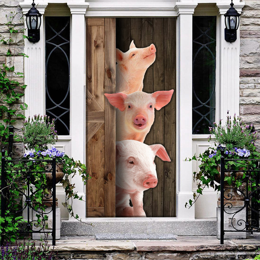 Cute Pigs Door Cover