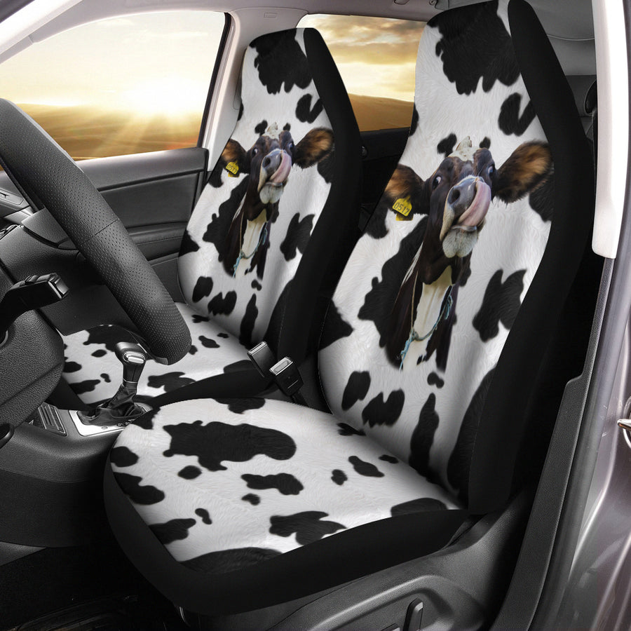Funny Face Dairy Cow Car Seat Covers