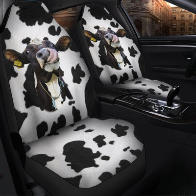 Dairy Cows Auto Sun Shade & Car Seat Covers Set 2