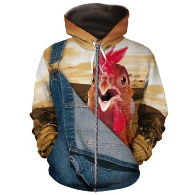 Farming Chicken All-over Hoodie