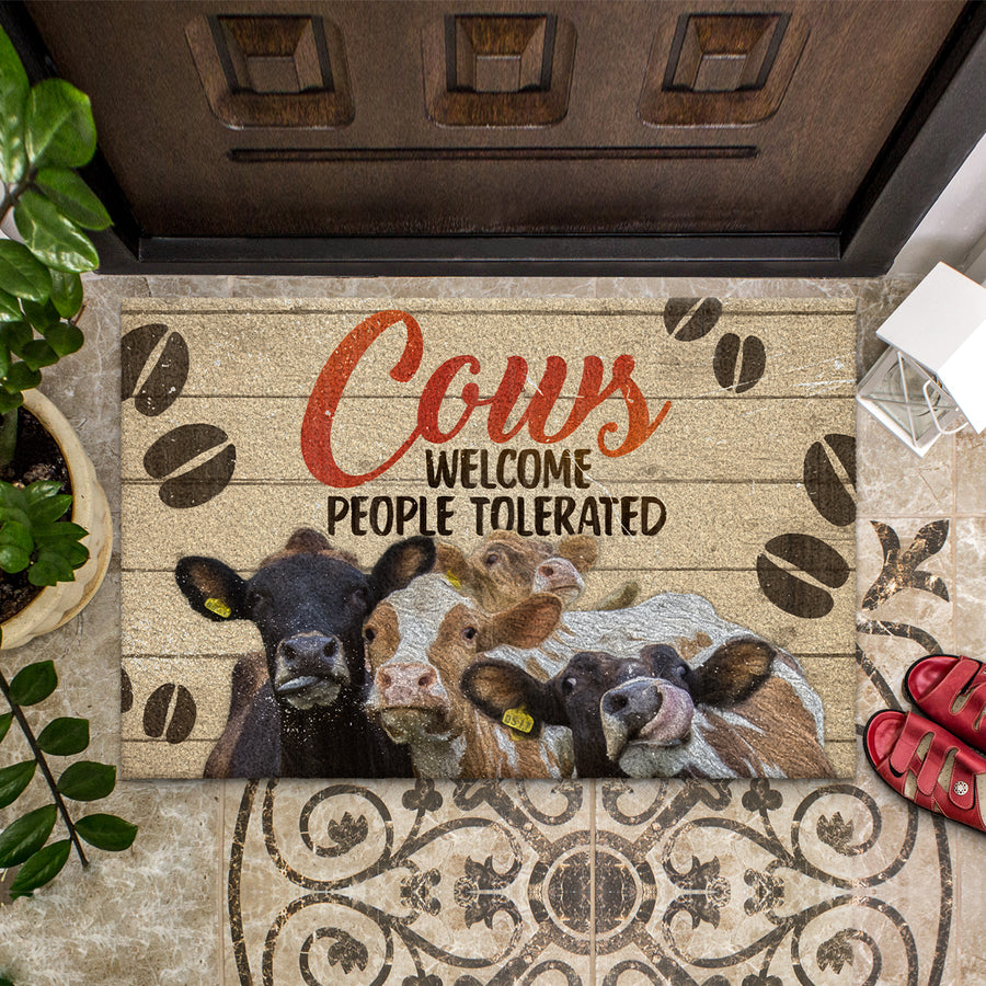 Dairy Cows Welcome People Tolerated Doormat