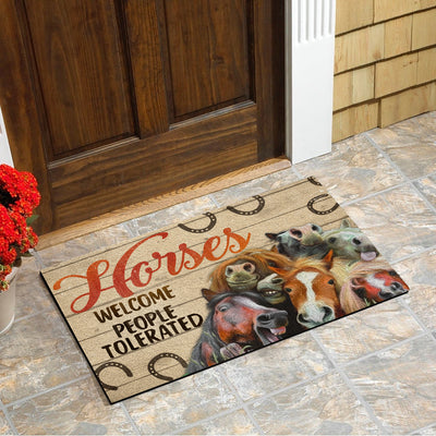 Horses Welcome People Tolerated Doormat