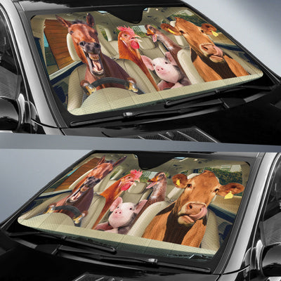 Driving Farm Animals Right Hand Drive Version Auto Sun Shade