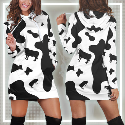 All-over Dairy Cow Hoodie Dress