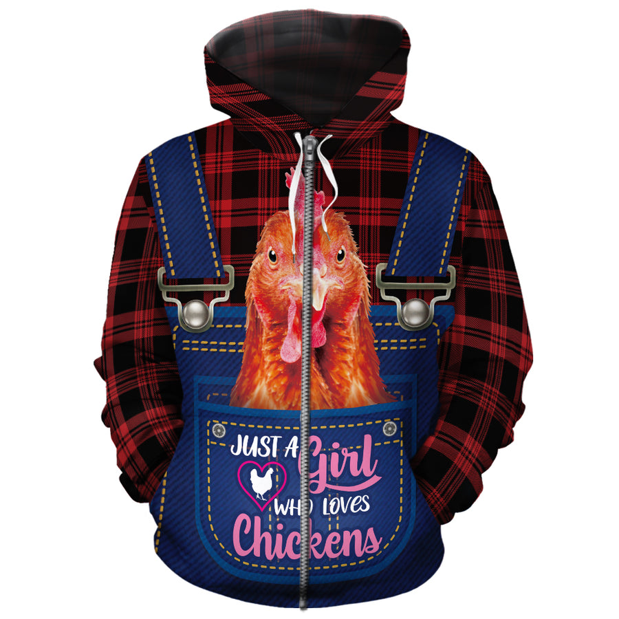 Just A Girl Who Loves Chickens All-over Hoodie