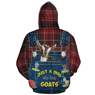 Just A Girl Who Loves Goats All-over Hoodie