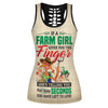 A Farm Girl Gives You The Finger Hollow Tank Top