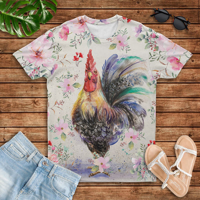 Flower Chicken 2 T-shirt