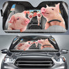 Driving Pigs Auto Sun Shade