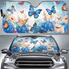 Flower Butterflies Auto Sun Shade