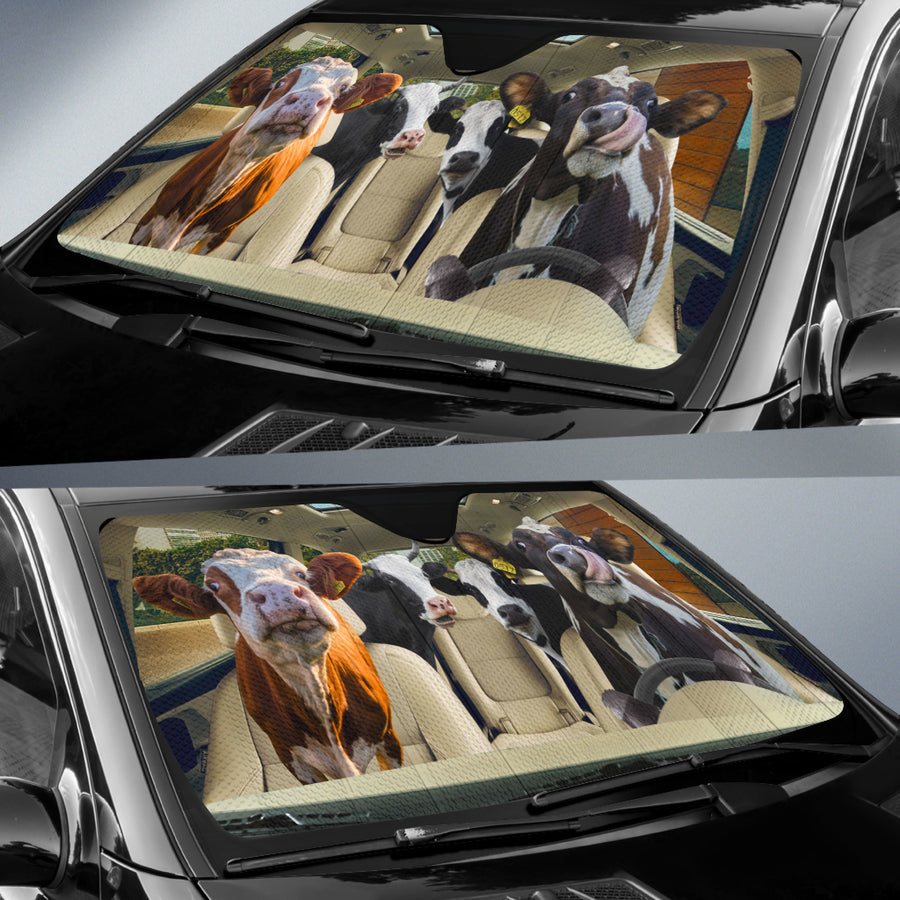 Driving Dairy Cows Auto Sun Shade