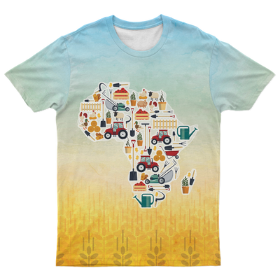 African Farmer Map T-shirt