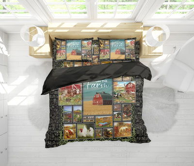 Life Is Better On The Farm 2 Bedding Set - FREE SHIPPING