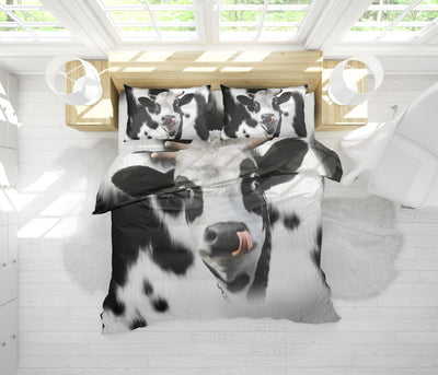 Cute Face Dairy Cows 1 Bedding Set