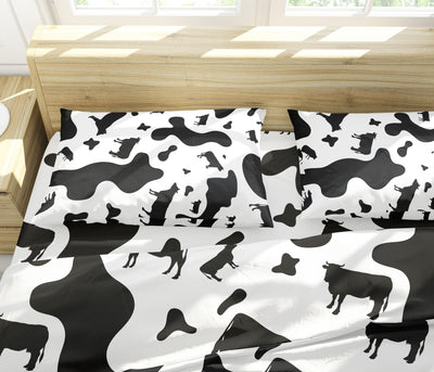 All-Over Dairy Cows Bedding Set - FREE SHIPPING