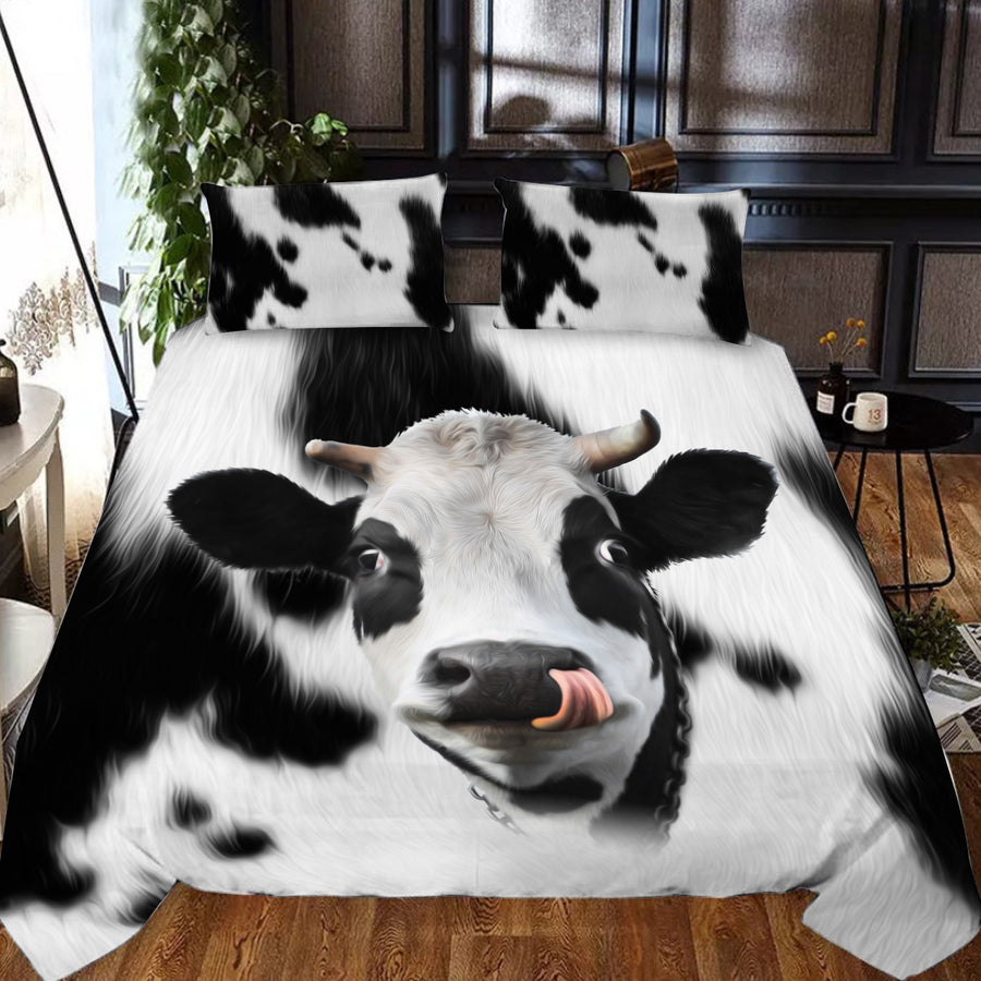 Cute Face Dairy Cows 2 Bedding Set - FREE SHIPPING
