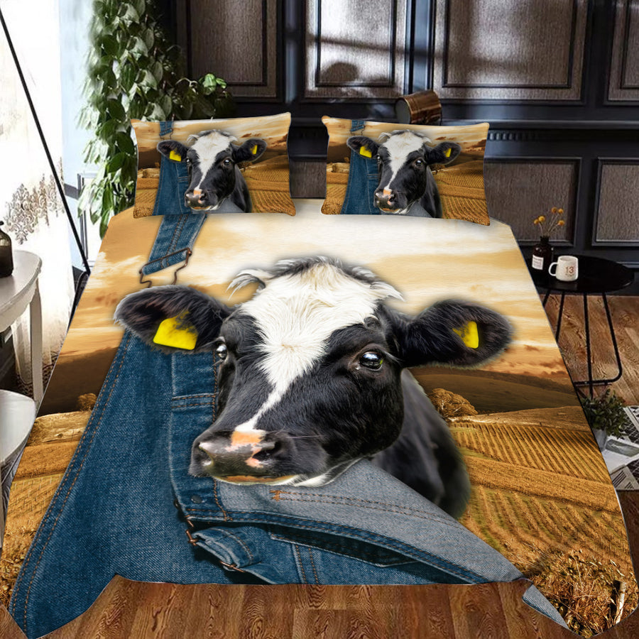 Farming Dairy Cow Bedding Set
