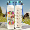 Born To Farm Forced To Go To School Water Tracker Bottle