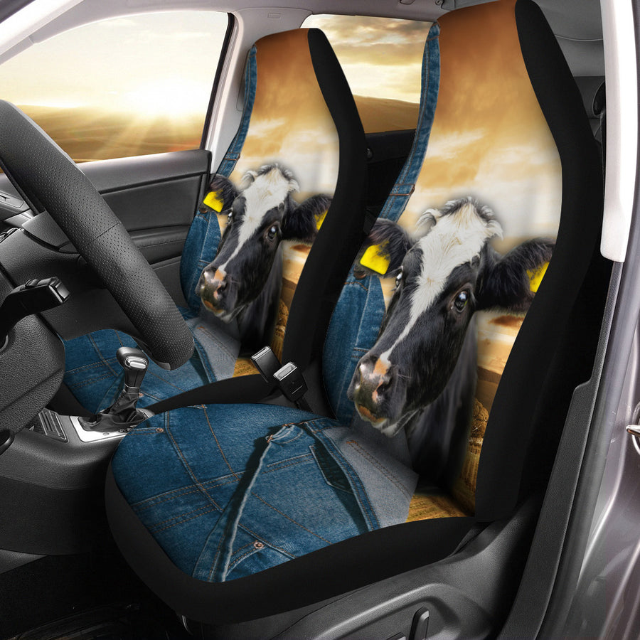 Farming Dairy Cow Car Seat Covers
