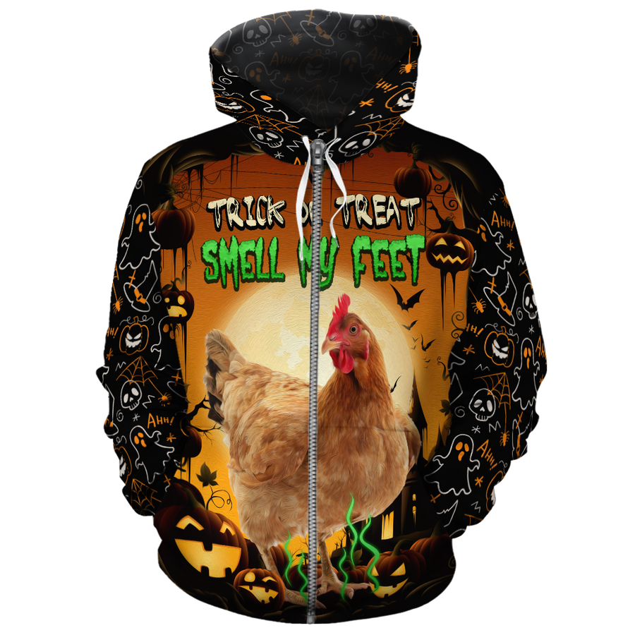 Trick Or Treat Chicken All-over Hoodie