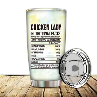 Chicken Lady Nutritional Facts Tumbler