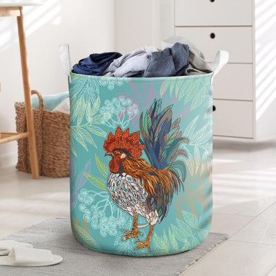 Colorful Chicken 2 Laundry Basket