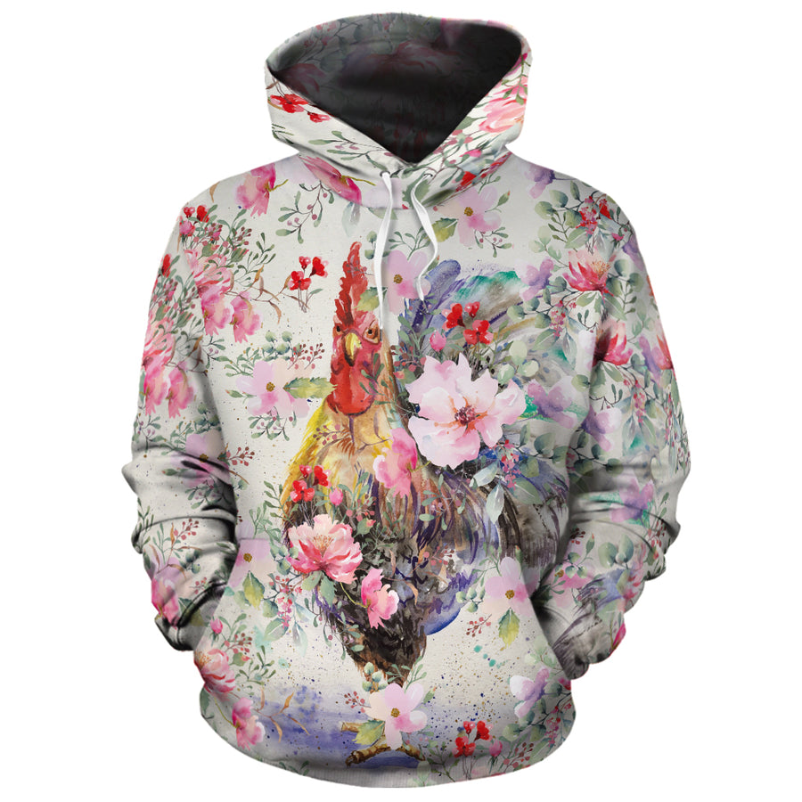 Colorful Chicken All-over Hoodie And Leggings Set