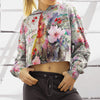 Colorful Chicken Cropped Hoodie