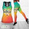 Crazy Chicken Lady Hollow Tank Top And Legging Set