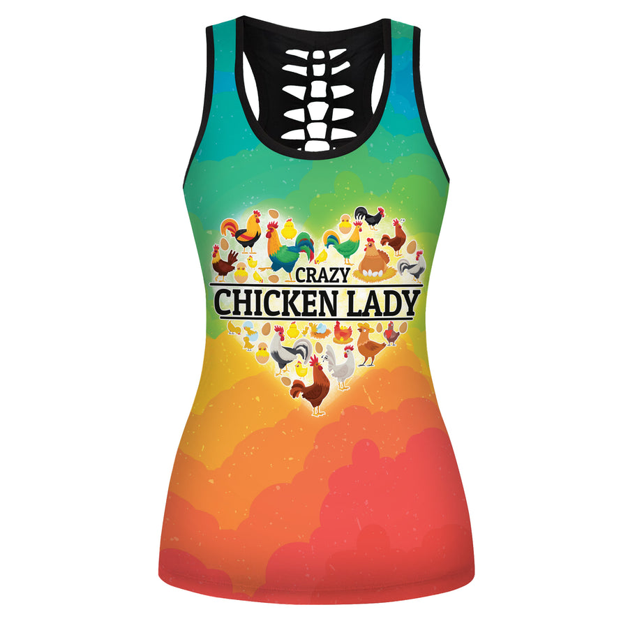 Crazy Chicken Lady Hollow Tank Top