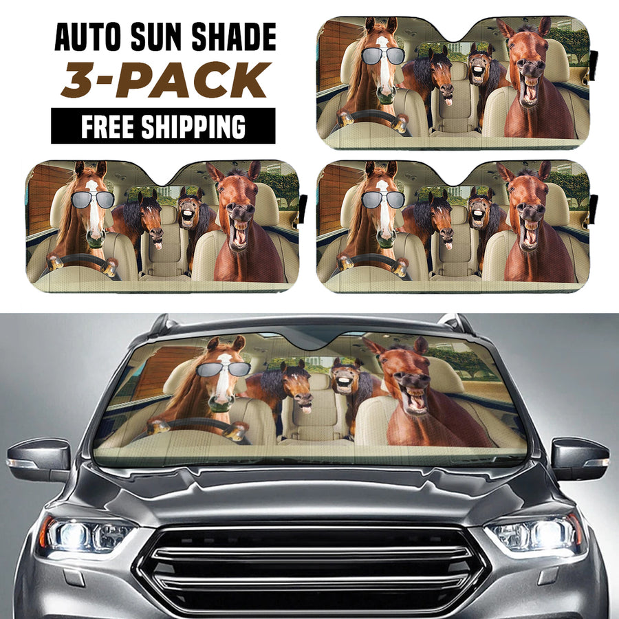 Driving Horses Right Hand Drive Version Auto Sun Shade
