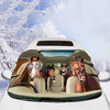 Driving Horses Right-Hand Drive Windshield Snow And Sun Cover