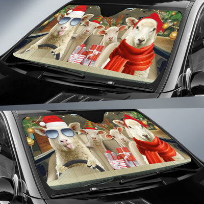 Xmas Driving Sheep Right Hand Drive Version Auto Sun Shade