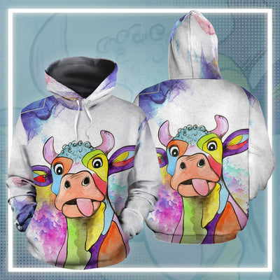 Dairy Cow Water Color 1 All-over Hoodie