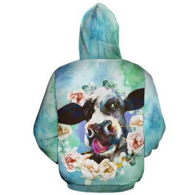 Dairy Cow Oil Painting 2 All-over Hoodie