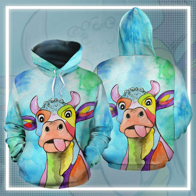 Dairy Cow Water Color 2 All-over Hoodie