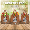 Dairy Cow Rattan Pattern Grocery Bag 3-Pack
