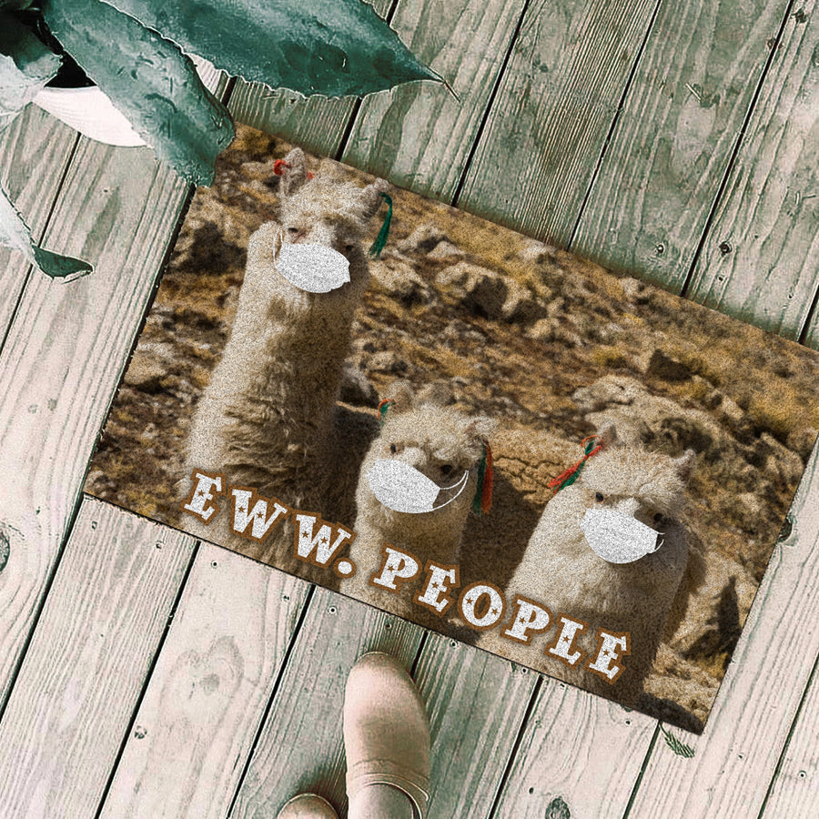 Alpacas Eww People Doormat