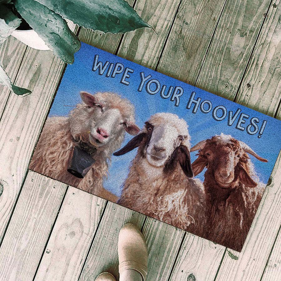 Goats - Wipe Your Hooves Doormat