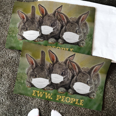 Rabbits Eww People 1 Doormat