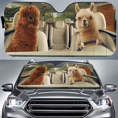 Driving Alpacas Auto Sun Shade