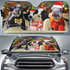 Xmas Driving Cows Right Hand Drive Version Auto Sun Shade