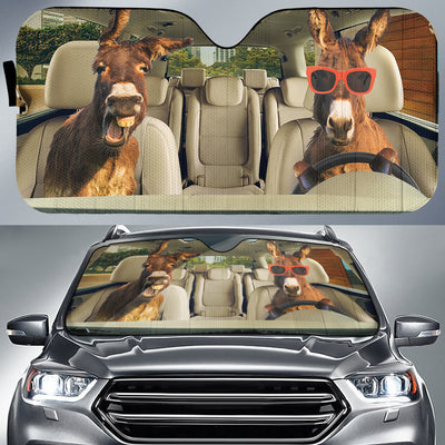 Driving Donkeys Auto Sun Shade