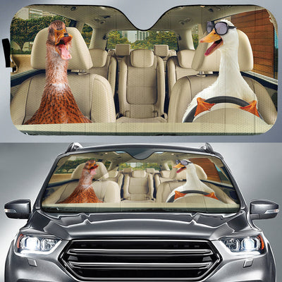 Driving Ducks Auto Sun Shade