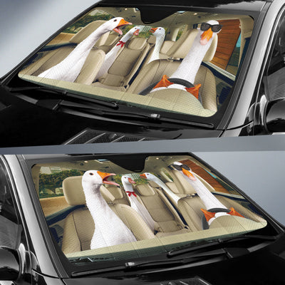 Driving Geese Auto Sun Shade