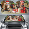 Xmas Driving Horses Right Hand Drive Version Auto Sun Shade
