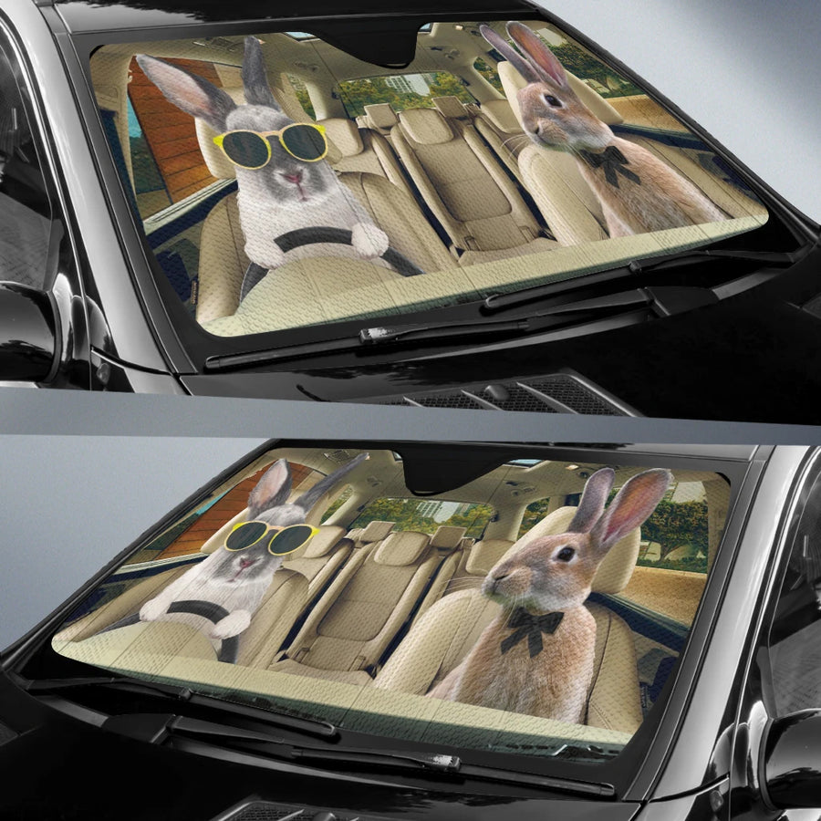 Driving Rabbits Right Hand Drive Version Auto Sun Shade