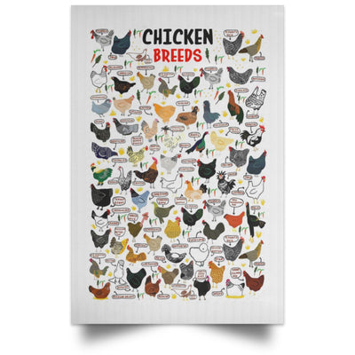 Chickens Breeds Vertical Poster