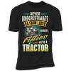 Never Underestimate A Farm Lady In Her Fifties With A Tractor T-shirt