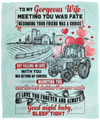Husband To Wife - Meeting You Was Fate - Cozy Plush Fleece Blanket - 50x60